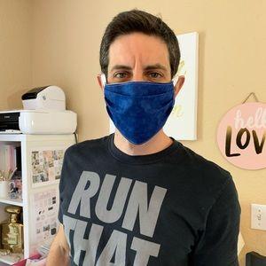 Blue Face Mask Adult Reusable Cotton Double Layer